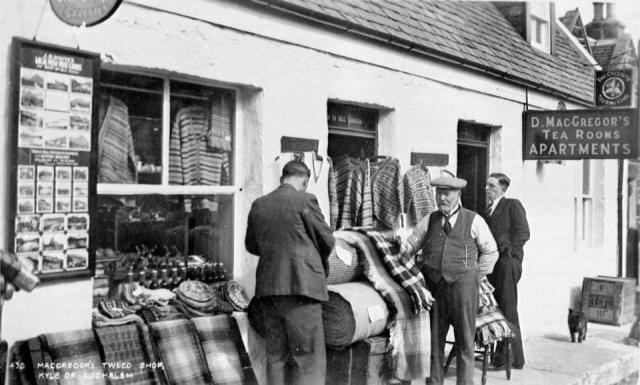 Tweed Shop at Kyle of Lochalsh, Scotland