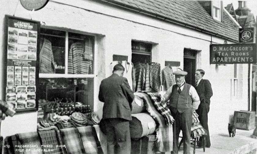 Tweed Shop at Kyle of Lochalsh, Scotland