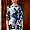 Centaurea day Dress in puresilk